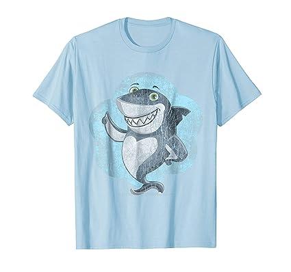Men's Walking Shark Cute Funny Emoji Emoticon Funny T Shirt