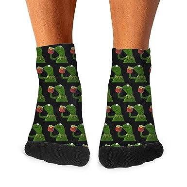 Amazon.com: Calcetines para hombre con diseño de rana verde ...