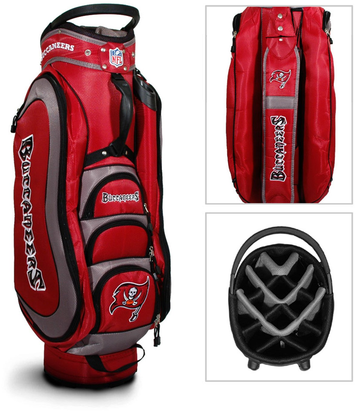 d8add0b9 NFL Tampa Bay Buccaneers Cart Golf Bag: Amazon.co.uk: Sports & Outdoors
