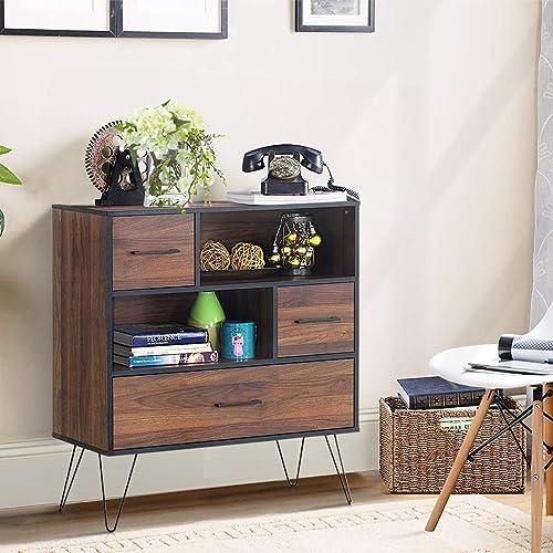 Tangkula 3-Tier Storage Cabinet