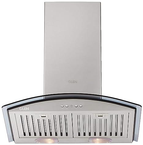 Glen 60cm 1000 m3/hr Chimney (Gl 6071 SX BF LTW, 2 Baffle Filters, Steel/Grey)