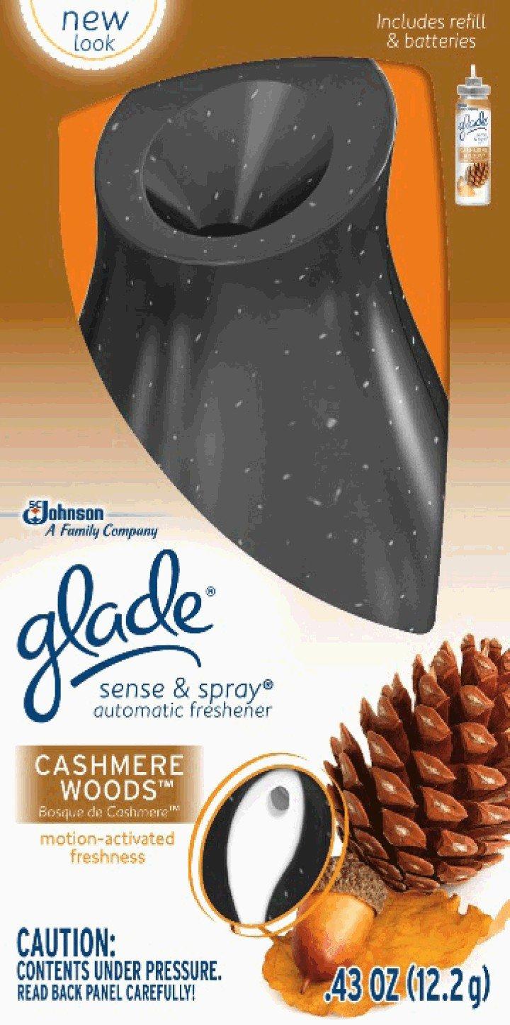 Glade Sense and Spray Starter, Cashmere Woods, 0.43 Ounce