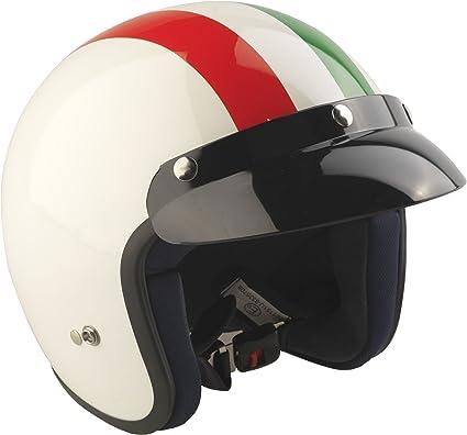 Amazon.es: RS-04 - Casco jet para moto con la bandera de Italia L Rosso/Bianco/Verde