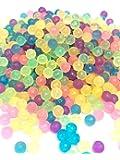 水を付けるとつながる魔法のビーズ クリアタイプ マジカルボール 丸型 補充パック 6色 ミックスカラー ビーズ 600個入り