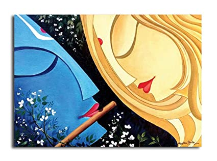 Buy Pixelartz Canvas Painting Radha Krishna Eternal Love