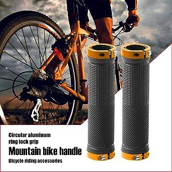 Double Lock On BMX MTB Mountain Bike Bicycle Cycling Red Handlebar Grips tb1