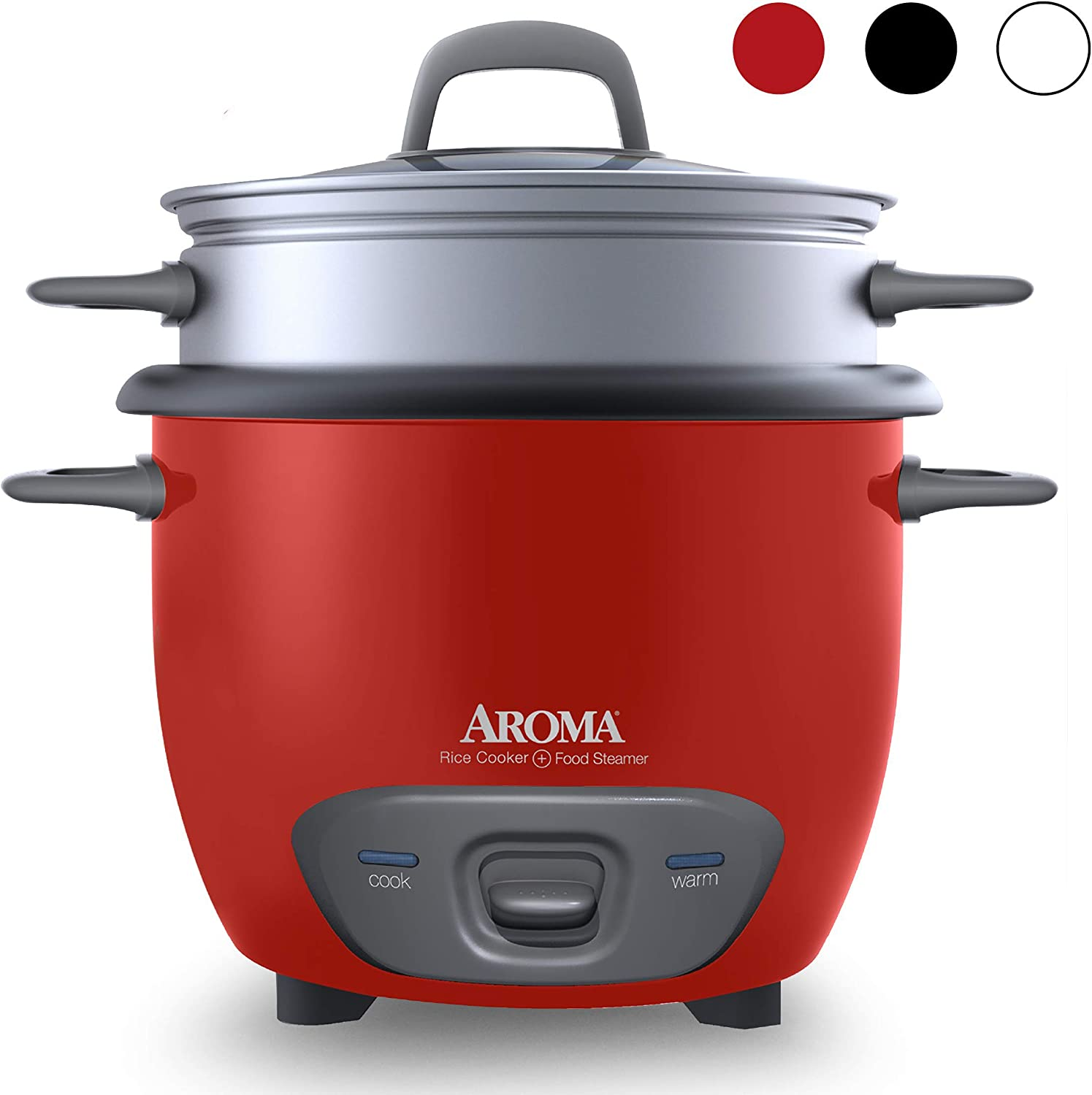 Aroma Housewares ARC-743-1NGR 6-Cup (Cooked) (3-Cup UNCOOKED) Pot Style Rice Cooker and Food Steamer