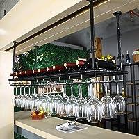 COLiJOL Bar Butler Dispensador de Vino Boca Abajo Colgante Altura Ajustable Copas de Vino Soporte de Secado Rack…