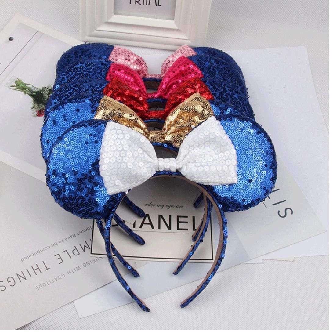 Linda De Mickey Mouse Ears Diadema De La Mariposa Del Brillo Hairband Para Ni/ñas
