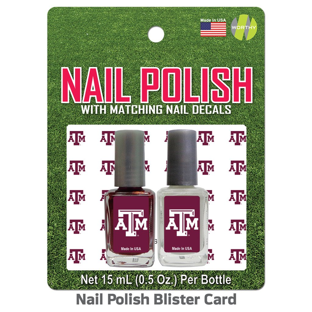 Amazon.com : Texas A&M University Nail Polish Team Colors and Nail ...
