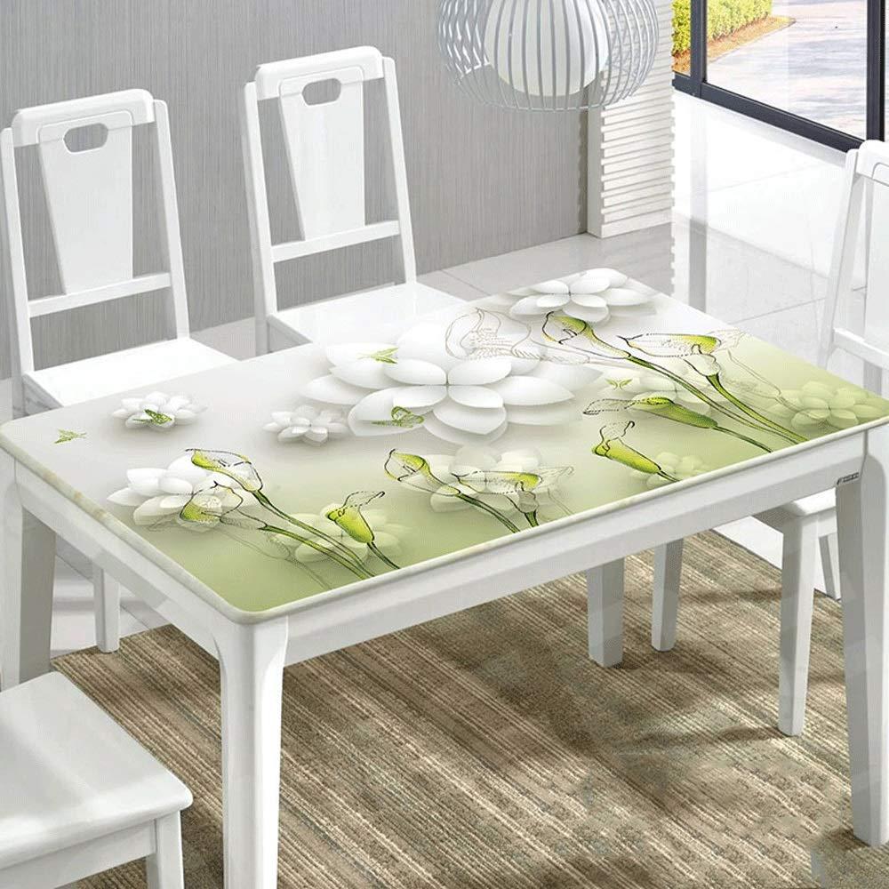 ZXTヨーロッパ家庭用コーヒーテーブル長方形テーブルクロステーブルマット、3DデジタルプリントPVCテーブルクロス、防水と耐油、あらゆる種類の家の装飾に適し、子供のテーブルクロス、さまざまなパターンを選択する (Color : A, Size : 90*160CM) 90*160CM A B07S8MCVBX