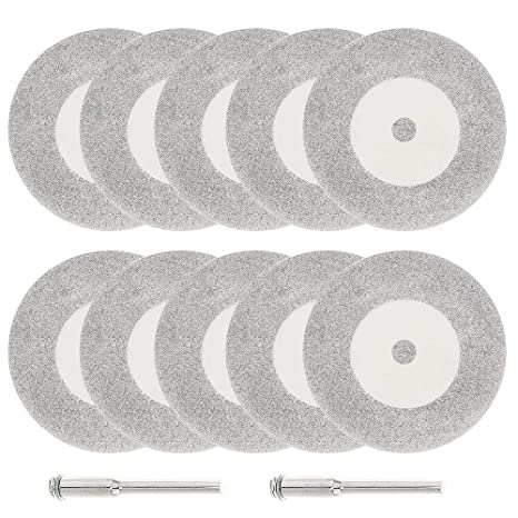 10Pcs Electro Plated Diamond Glass Cutting Saw Blade Grinding Disc 50mm