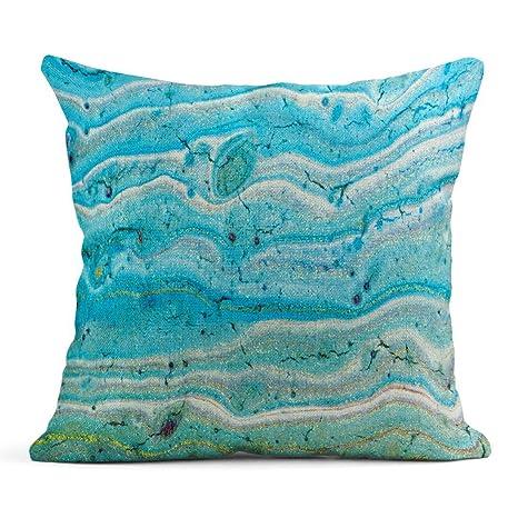 Cojín Azul Abstracto Fantástico Patrones de Colores y ...
