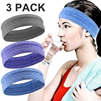 BONKEEY Diadema Deportiva, Banda de Sudor Antideslizante, Banda para el Cabello, Bandas para la Cabeza Deportivas Sweat Band Hairband, Elástico de Headwear Bandana para Correr Ciclismo Unisex Hot Yoga y Athletic Entrenamientos