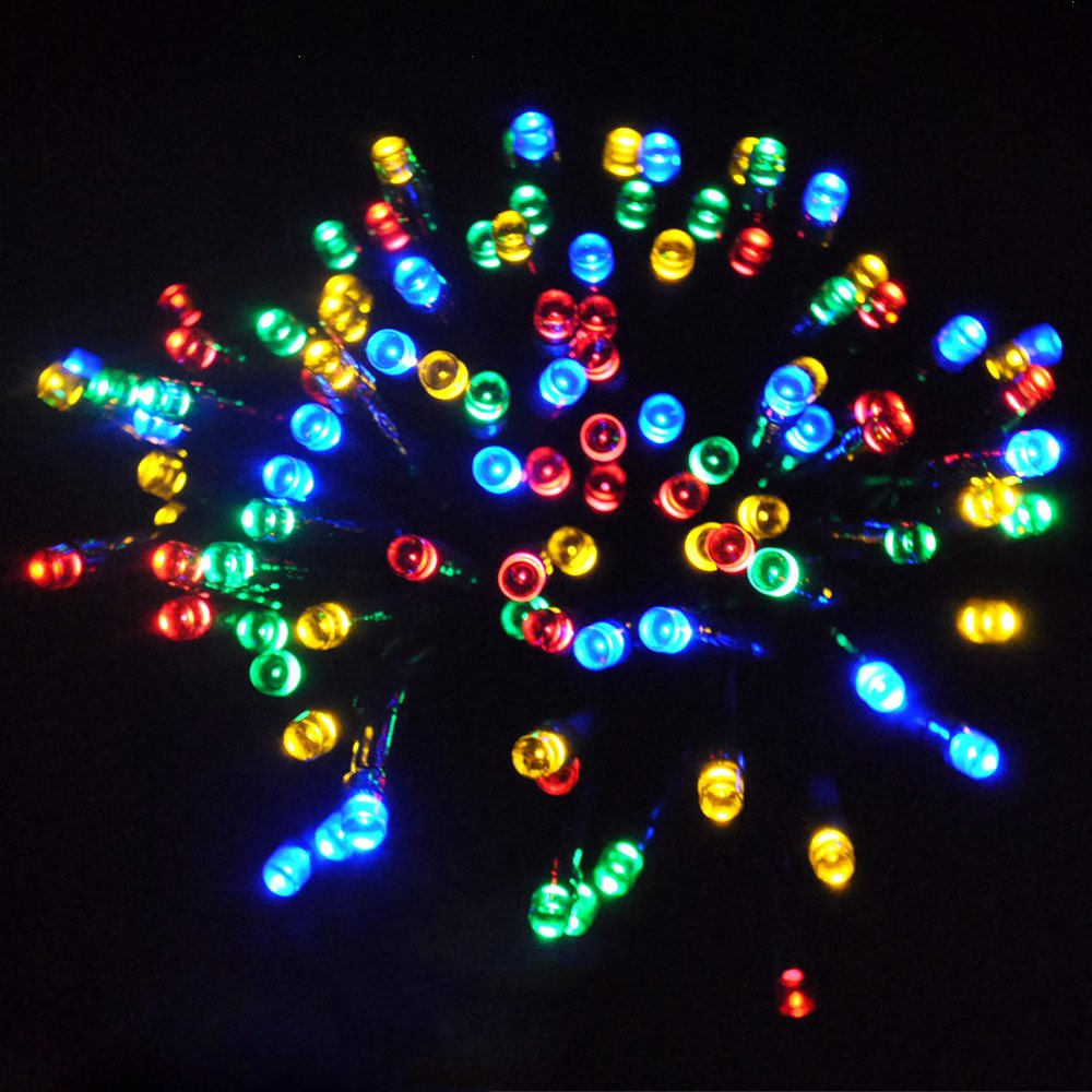 JnDee™ Waterproof Fairy Lights 30M 300 LED +10M Cable Lead Multi Colours (RED, Green, Blue and Yellow) with 8 Light Effects Functions, for Both Indoor and Outdoor Christmas Tree Wedding Parties Decoration 31V Safe Voltage SS-31Vdc-0300LED-L-MC-IP44