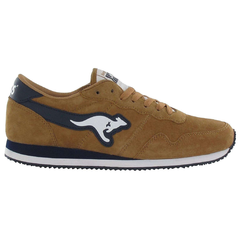 Kangaroos - Zapatillas Deportivas de Ante Modelo Invader Hombre Caballero 45 EU Marrón/Marino