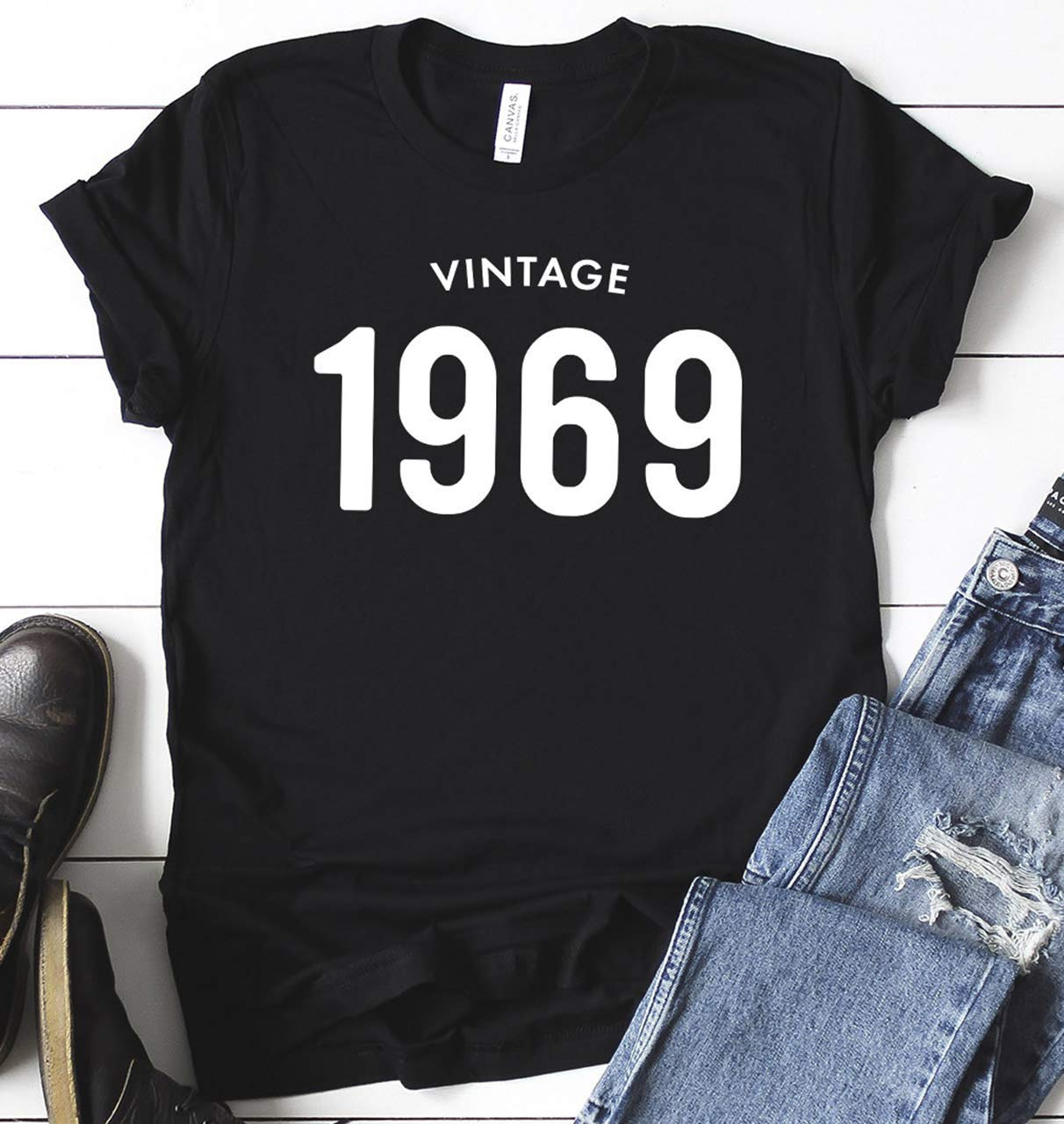 50th Birthday Shirt Vintage 1969 T Gifts For Men Him Unisex 50 Party Dad Graphic Tees Short Sleeve Jersey Personalized Gift