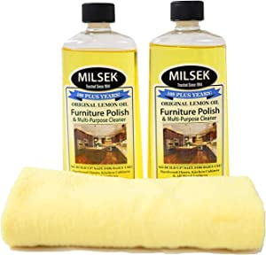 Milsek LMLM2PKC 2-Pack Cleaning Multi-Pack, 12-Ounce-2-Pack & Cloth, Yellow, 2 Count