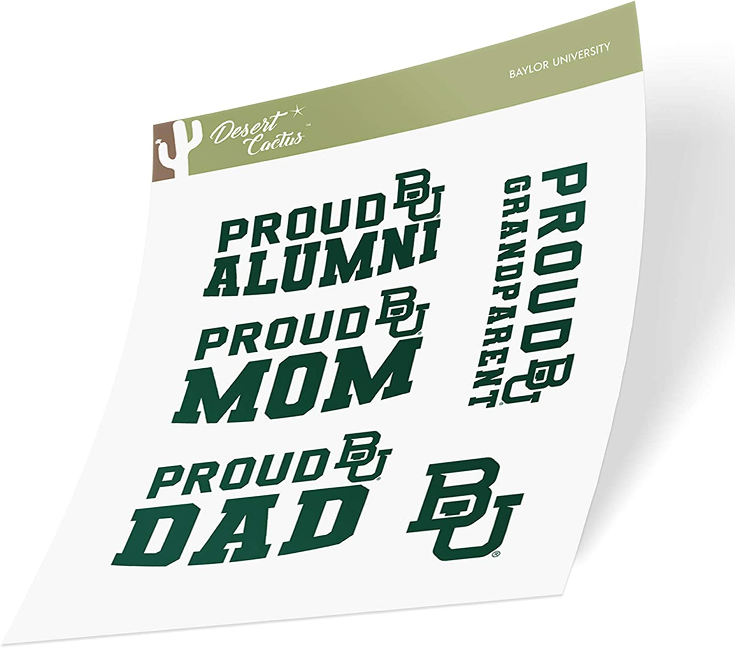 Baylor University Bears NCAA Sticker Vinyl Decal Laptop Water Bottle Car Scrapbook (Family Full Sheet)