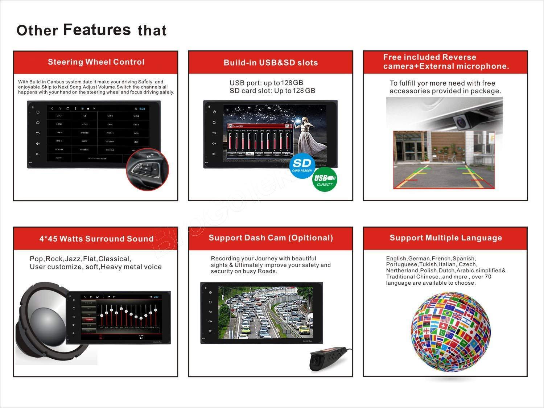 For Toyota RAV4 Corolla Hilux Camry Tundra GPS NAV Android Car Stereo Radio Cam