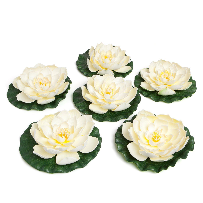 Amazon Best Floating Flowers Set Of 6 For Weddings Pools