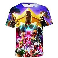 SERAPHY Fortnite Magliette Manica Corta Fortnite 3D Tshirt Bambino Regali meravigliosi per Ragazzi