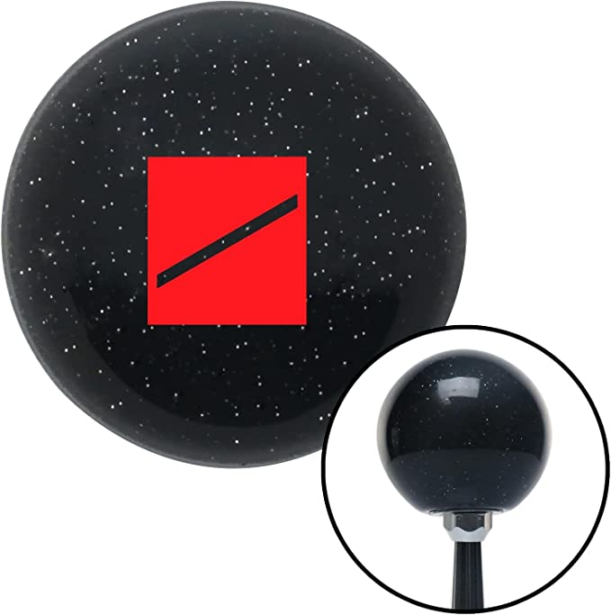 Red Seaman Recruit American Shifter 72627 Black Metal Flake Shift Knob with M16 x 1.5 Insert