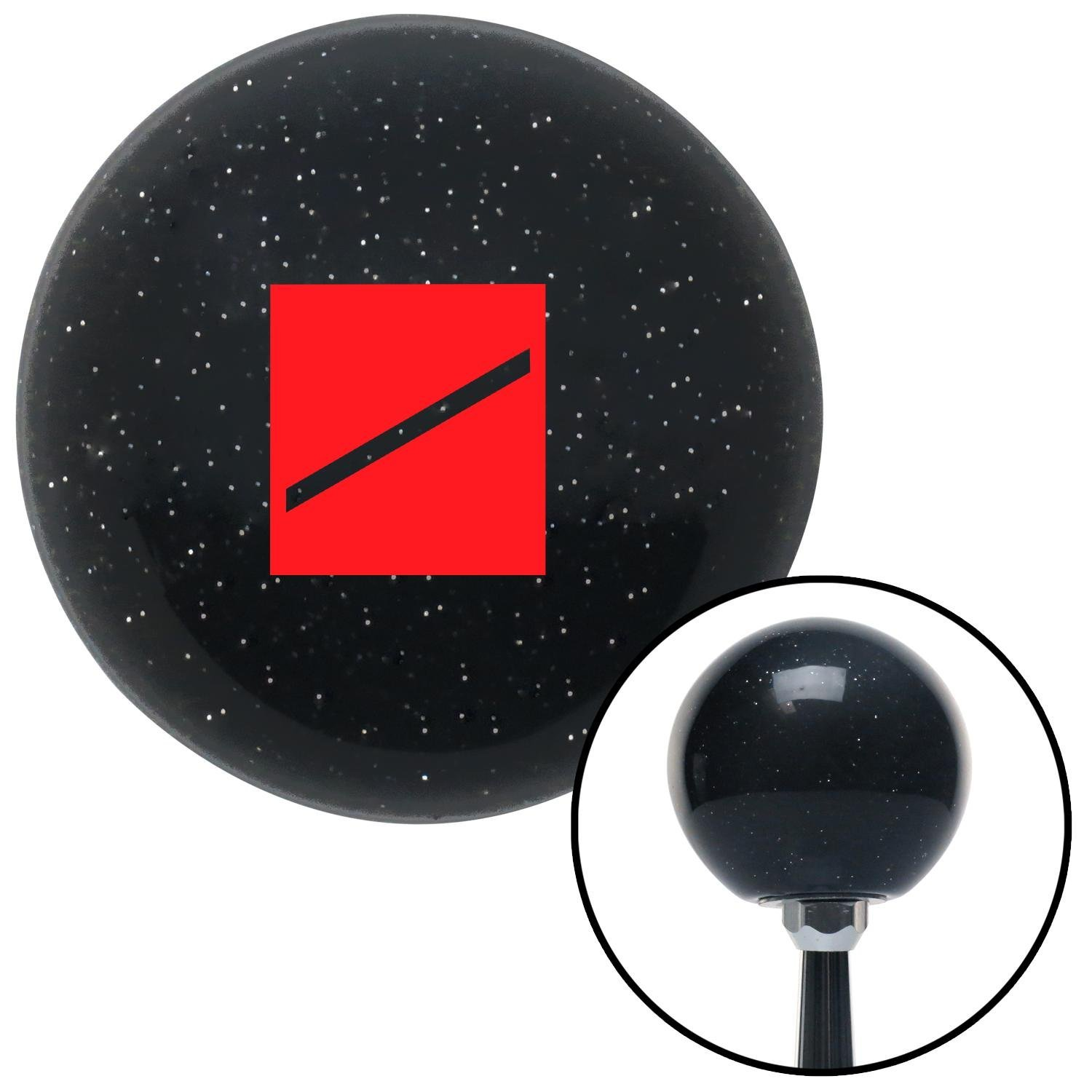 American Shifter 72627 Black Metal Flake Shift Knob with M16 x 1.5 Insert Red Seaman Recruit