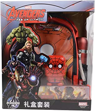 Marvel Avengers Movie Iron Man Gift To Set Sharpener Lined School Bag Kettle Amazon De Burobedarf Schreibwaren