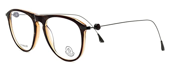 3c5a35d01df Eyeglasses Moncler MC013 V04 shiny brown with tatanium temples  Size 53-18-150