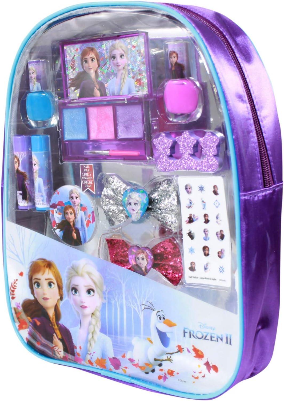 Frozen - Mochila de maquillaje para 2 niñas, set de regalo: Amazon.es: Juguetes y juegos