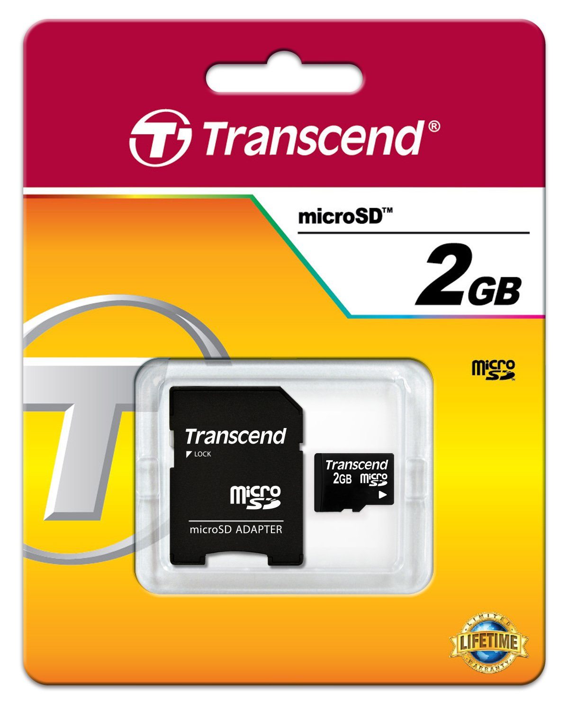 Transcend TS2GUSDC - Tarjeta de Memoria microSD de 2 GB