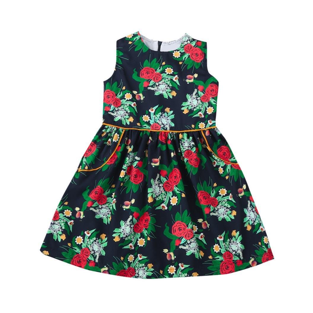 Winkey Dress for 2-6 Years Girls,New Toddler Baby Flower Girls Princess Dress Wedding Party Kids Dress