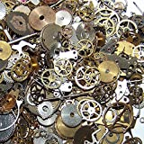 Fevas 10g/Bag Steampunk Parts DIY Bracelet Earrings Handmade Alloy Wrist Watch Old Parts Gears Wheels Steam Punk Lots