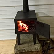 Amazon Com Guide Gear Outdoor Wood Stove Sports Amp Outdoors