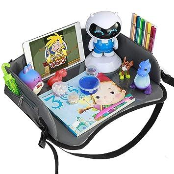 Reisetisch Knietablett Reisetablett Kinder Auto Kindersitz Spieltisch Kindertablett Einstellbar Multifunktion Mit Multi Taschen Für Lange Autofahrten Von Yoofoss Baby