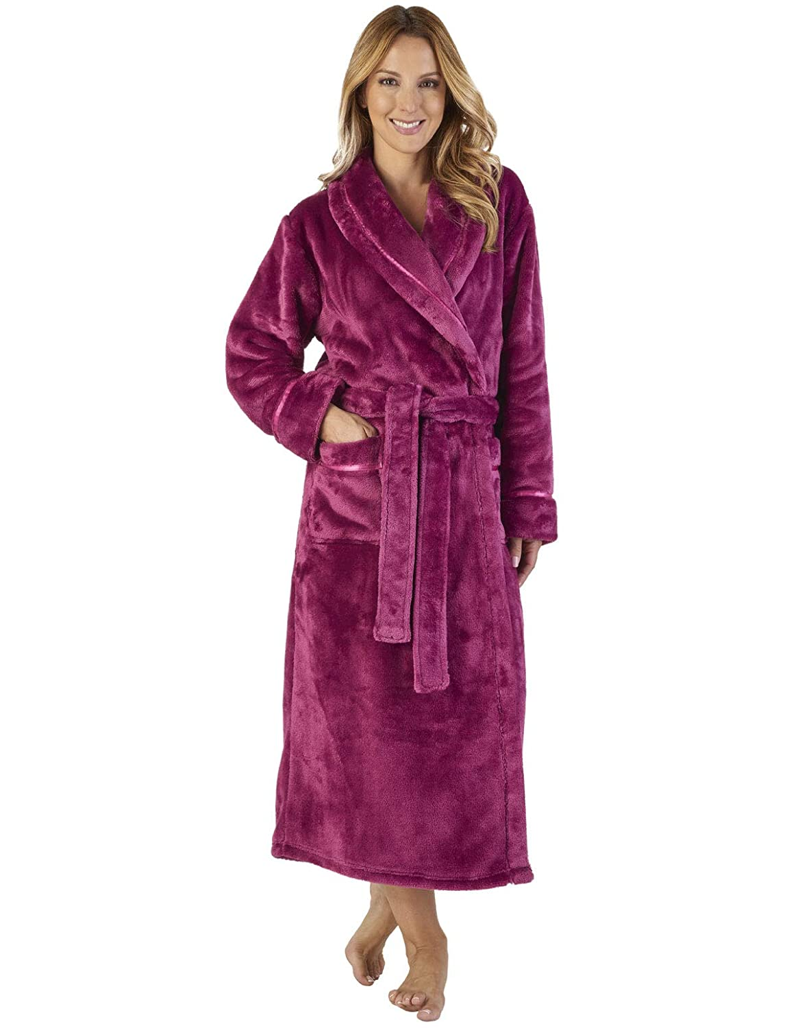 TALLA L. Slenderella HC2347 Women's Luxury Fleece Robe Loungewear Bath Dressing Gown