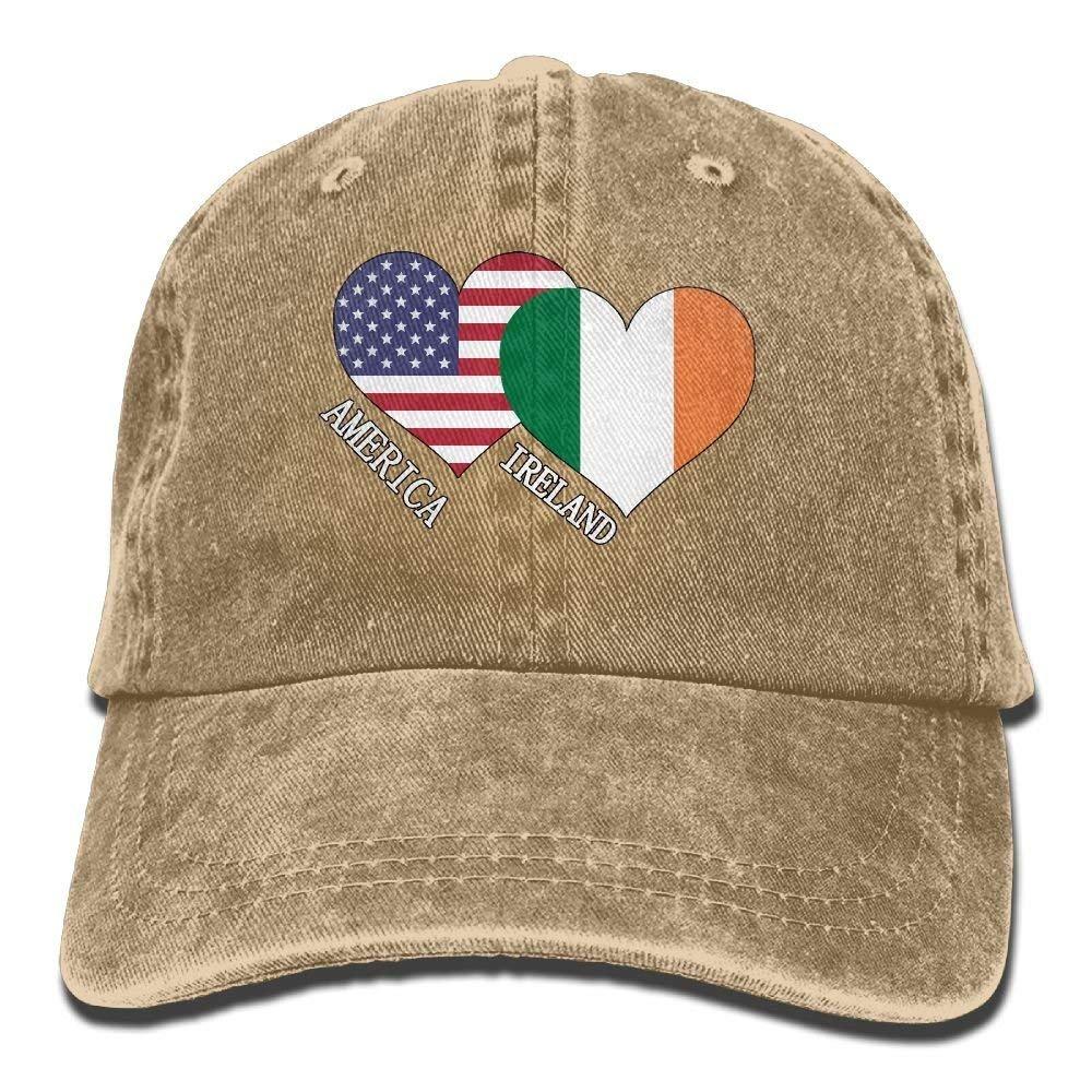rongxincailiaoke Gorras béisbol Sports Denim Cap Ireland American ...