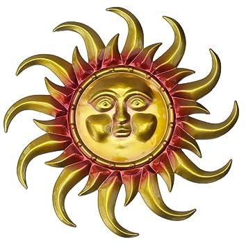Amazon.com: Large tin sun face decorative wall art: Home & Kitchen