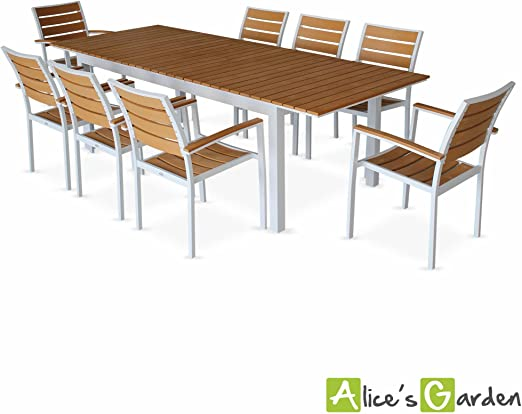 Alice\'s Garden - Salon de jardin table extensible - Seattle ...