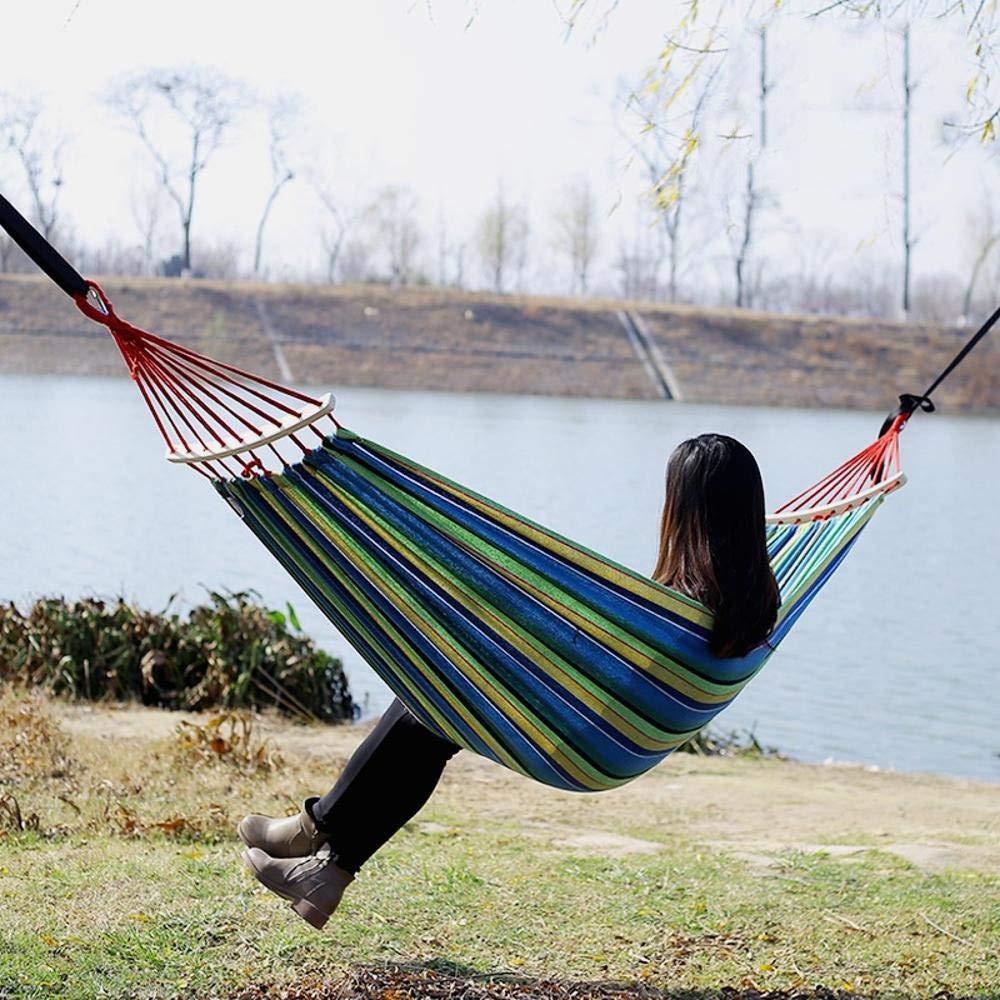 Y-YT Reise Camping Hängematte Outdoor-Leinwand Anti-Roll Swing doppelt gepolsterte Hängematte 260  100 cm
