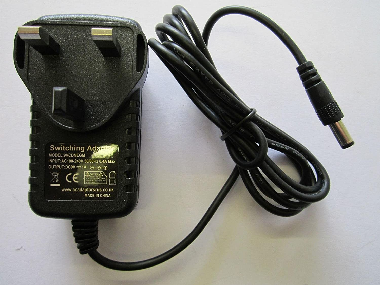 Replacement 9V AC-DC Adaptor Power Supply 4 Sega Mega Drive 1 (Rectangular Model ACAdaptorsRUS