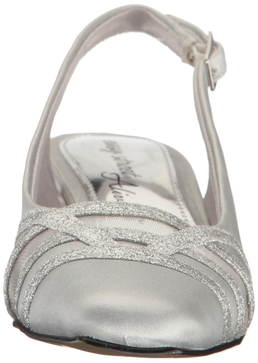 Easy Street Women's Kristen Dress Pump B01MXRP5NN 12 W US|Silver Satin/Silver