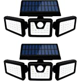 Otdair Solar Security Lights, 3 Head Motion Sensor Lights Adjustable 70LED Flood Lights Outdoor Spotlights 360…