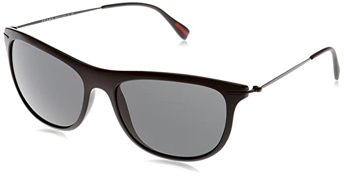 Prada Linea Rossa Red Feather Gafas de sol, Black Demi Shiny ...