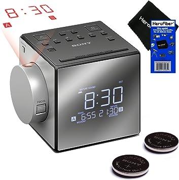 Nuevo y mejorado – Reloj despertador dual con proyector Sony con ...