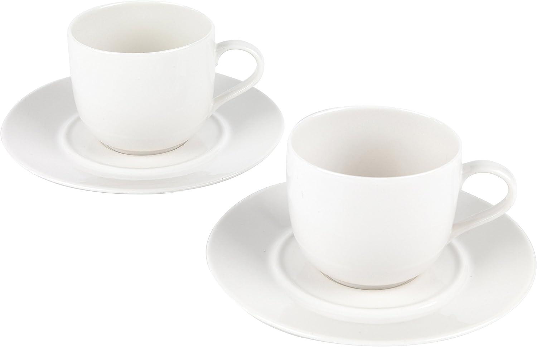 Alessi 1110305 la Bella Tavola Porcelana Taza y platillo, Porcelana, Blanco, Set of 8: Amazon.es: Hogar