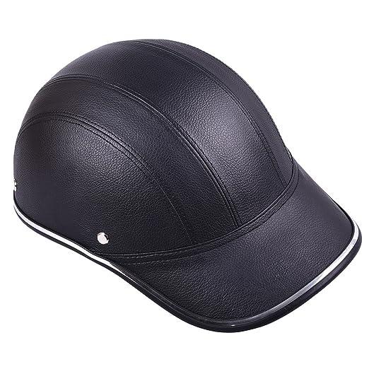baseball hat motorcycle helmet amazon half face protective helmets horse riding leather cap for men women girls automotive under