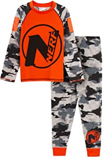 Boys Official NERF NATION Character Novelty Long Sleeve Pyjama Set Age 3 to 10