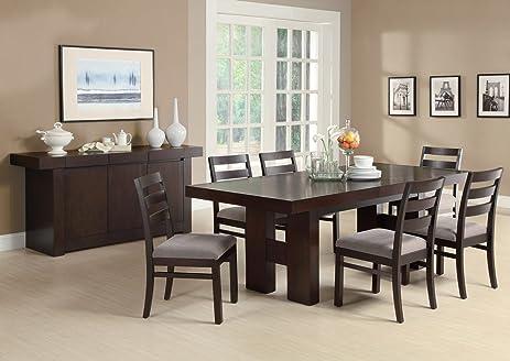 Amazon.com - Dabny 7-Pc Dining Table Set by Coaster - Table ...